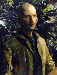 "Self-Portrait, 1920 Sometimes referred to as the ""father of camouflage"", Abbott Handerson Thayer (1849 – 1921) was an American painter of po..."