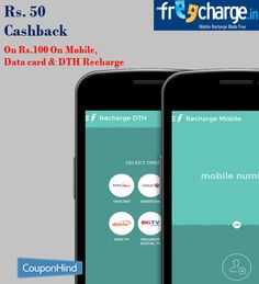 #Freecharge Give Rs. 50 Cashback On Rs.100 On Mobile, Data card & DTH Recharge