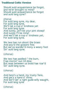 Auld Lang Syne - Robert Burns <3