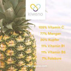 Ananas ist ein genialer Durstlöscher und ein wahres Superfood. Vitamin B1, Healthy Quotes, Motivation, Superfood, Pineapple, Fruit, Pine Apple, Inspiration