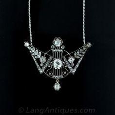 Unique-Antique-Russian-Diamond-Necklace-Main-View