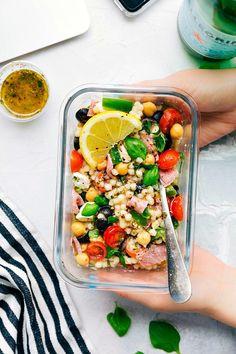 Italian Couscous Salad (Meal Prep Option) | Chelsea's Messy Apron