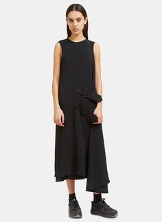 38f1f6420c Acne Studios Scilla Long Crêpe Wrap Dress