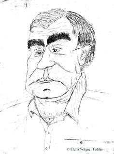 """Mi profesor de """"Identificación criminal"""" durante mi Licenciatura de Criminología. Dibujado en clase por Elena Wägner Fahlin el 6 de Marzo de 1993"""