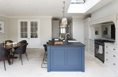 Everyone Else Does When It Comes to Open Plan Kitchen-diner with Blue Island and Cabinetry and What You Need to Be Doing Different - isoaku Open Plan Kitchen Diner, Open Plan Kitchen Living Room, Barn Kitchen, Shaker Kitchen, Family Kitchen, Kitchen On A Budget, Home Decor Kitchen, Interior Design Kitchen, New Kitchen