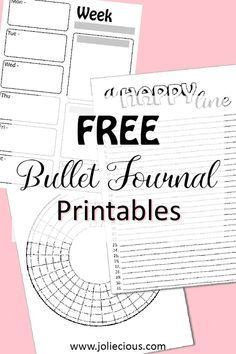 Free bullet journal printables collection: Weekly spread, Habit tracker, Gratitude log,... Bullet Journal Tracker, Bullet Journal Spread, Bullet Journal Layout, Bullet Journal Ideas Pages, Bullet Journal Inspiration, Bullet Journal Onenote, Free Bullet Journal Printables, Bullet Journal Stencils, Journal Template