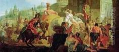 The Entrance of Alexander the Great 356-323 BC into Babylon Oil Painting, Francesco Fontebasso Oil Paintings - NiceArtGallery.com