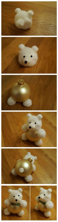 Weihnachtskugel-Bärchen - Christmas Ornament Teddy Bear Tutorial DIY