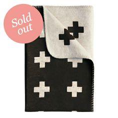 Pia Wallen | Cross Blanket Large Black | Blankets & Throws | Share Design | Home, Interior Design, Architecture, Design Ideas & Design Inspiration Blog