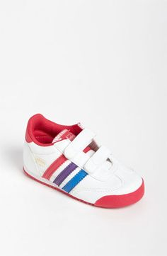 Just copped these in a size 4, hope they fit her in the late spring and summer!  adidas 'Dragon' Sneaker (Baby, Walker & Toddler) available at #Nordstrom