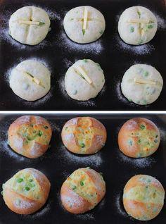 Bread Bun, Bread Cake, Bread Pizza, Japanese Bread, Japanese Buns, Bread Shaping, Sweet Buns, Brunch, Dessert Recipes