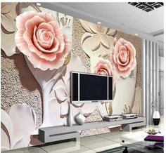 23 best wallpaper images in 2017 wall papers, wallpaper, houses[visit to buy] custom photo wallpaper room mural non woven sticker flower relievo fresco hd photo sofa tv background wallpaper for walls