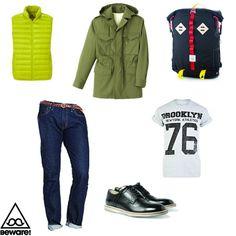 Fashion Selection n°25 : Uniqlo jacket, APC parka, J Crew jeans, River Island t shirt, Dolce & Gabbana shoes, Topo Designs bag : http://bewaremag.com/2013/03/31/selection-mode25/