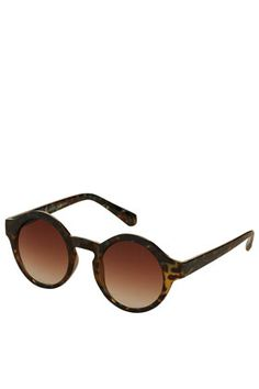 Printed Round Sunglasses    :O WANT!