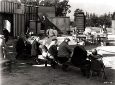 """freaks 1932 theatre   Lunch time on the set of """"Freaks"""", directed by Tod Browning, 1932."""