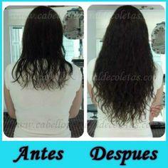 Extensiones de cabello natural un nuevo antes y despues www.cabellonaturaldecoletas.com