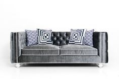 Inside Out New Deep Sofa in Charcoal Velvet by ModShop