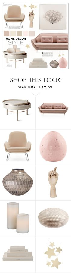 """""""Home decor style"""" by bogira ❤ liked on Polyvore featuring interior, interiors, interior design, home, home decor, interior decorating, Menu, Flamant, HAY and H&M"""