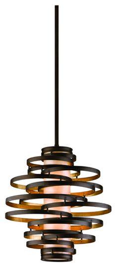 Corbett 113-42 Vertigo Small Modern Pendant Light in Bronze - COR-113-42