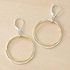 Classic gold and silver circle earrings.