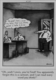 """""""The Far Side"""" by Gary Larson.when the boss gets there before the rubber. Far Side Cartoons, Far Side Comics, Good Cartoons, Funny Cartoons, Funny Comics, Funny Christmas Cards, Christmas Humor, Gary Larson Far Side, Funny Nurse Quotes"""