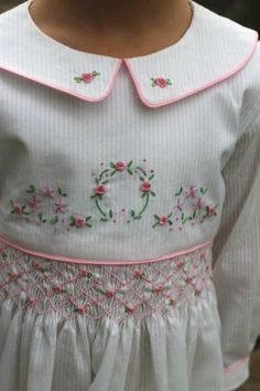 Adorable Heirlooms..I miss putting these on my daughters..Even Polly Flinders ones...