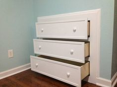 Being short on space and storage in your room? Thanks to the creativity of the DIY enthusiasts, wecan always find something to fit ourspace and expand ourstorage capacity. Here is a nice DIY project to make a built-in dresser. Isn't that cool? It is a great space saving solution that …