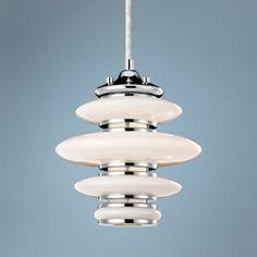 "lamps plus:  Elan Cumulus 8"" Wide Chrome Mini Pendant Light $165"