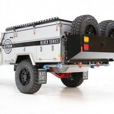 Black series Camper Trailer Off Road Camper Trailer, Camper Trailers, Forward Fold, Tiny Trailers, Black Series, Innovation Design, Offroad, Monster Trucks, Off Road
