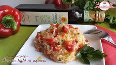 Risotto light ai peperoni rossi (324 calorie a porzione)