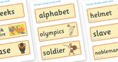 Ancient Greece Word Cards - Ancient Greeks, history, Greeks, word card, flashcards, cards, Greece, Olympic games, Homer, Athens, Alexander t...