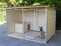 hi, we build and sell durable hot galvanized steel tube kennels.hi, we build and sell durable hot galvanized steel tube kennels. this is not a standard chain link kennel you buy at the hardware store. if you care about keeping Dog Kennel Roof, K9 Kennels, Cheap Dog Kennels, Building A Dog Kennel, Diy Dog Run, Dog Backyard, Food Dog, Dog Kennel Designs, Dog House Plans