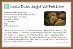 Chicken Breasts Stuffed with Pesto Butter: Lickable Spoon