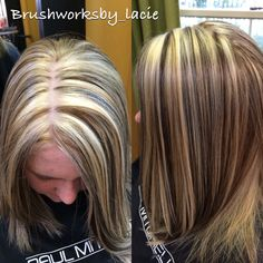 Color blocking ! Blonde with level 6n !