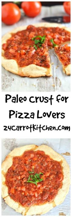 My favorite gluten free pizza crust! I use my homemade pizza sauce on top.