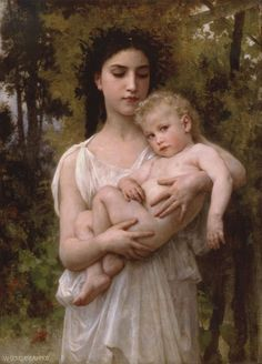 Little Brother by William-Adolphe Bouguereau. There's just something about this that moves me. I think it's the little boy's face.