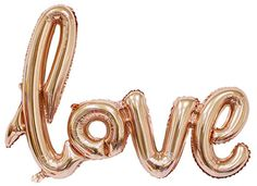 "Scrip ""Love"" Balloon Big Wedding Love Balloon Size 40 Inch Rose Gold Color - Home Page Letter Balloons, Foil Balloons, Rose Gold Foil, Rose Gold Color, Glamorous Wedding, Romantic Weddings, Celebration Balloons, Champagne, Rose Gold Balloons"