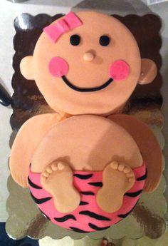 Baby girl cake with Zebra print