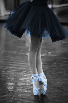Ballet in blue #splashofcolor #blackandwhite #coloradded