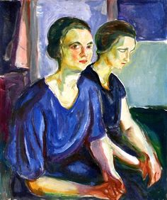 bofransson:  Two Women, Seated Edvard Munch - 1924-1926