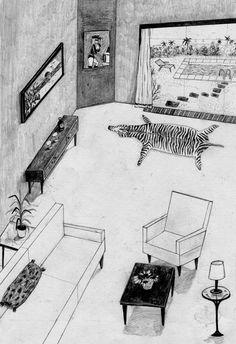 Vem säger att man måste vara duktig på perspektiv för att teckna. Fantastiskt! Room Vegas — Josephin Ritschel