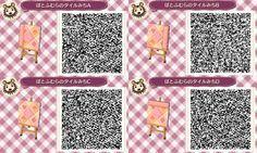 Alice in Wonderland Path QR Code ACNL (pink version 1/3)