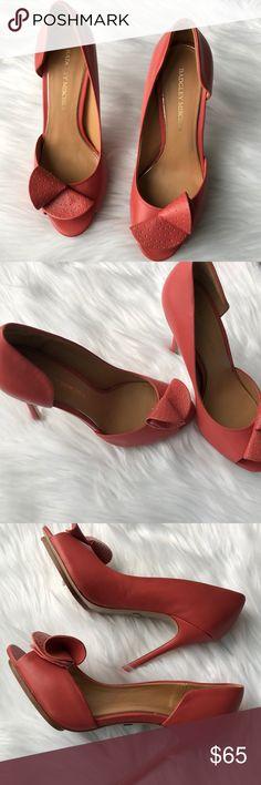 Badgley Mischka Peep Toe Heels 7.5 Size 7.5. Excellent condition. Coral colored peep toe heels. 4.5 inch heel. Badgley Mischka Shoes Heels