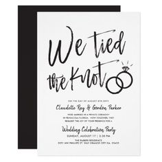 We Tied the Knot Post Wedding Party Invitation Zazzle com is part of Wedding party invites white theme - Before Wedding, Post Wedding, Wedding Vows, Wedding Events, Wedding Day, Dream Wedding, Wedding Themes, Wedding Stuff, Wedding Decorations