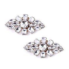 Amazon.com: ElegantPark AL Fashion Decorative Rhinestones Shoes Clutch Dress Hat Shoes Clips 2 Pcs Gold: Shoes