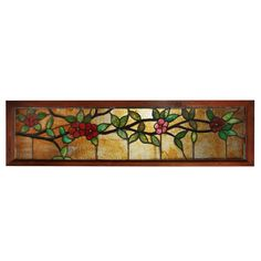 Fanciful Antique American Stained Glass Transom, c. 1900's NSG102-RW For Sale | Antiques.com | Classifieds