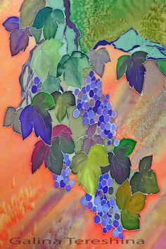 Fine Art Print, Grapes art, Living Room Decor, Modern Art, Wall Decor, Summer, Grapes painting, Orange Purple, Autumn art, Wall Art Print by SilkFantazi on Etsy