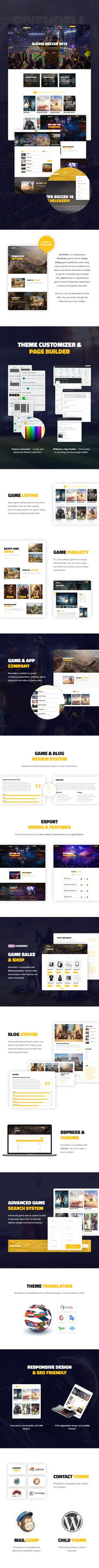 Rivendell is a multipurpose WordPress game theme. Game listing, game publicity, review, blog, shop, eSport and many features are exist in the theme. Rivendell is suitable to game companies, game listing sites, eSport team & organizations, game review & blog sites, application company and game shop sites. Also you can use Rinvedell for other sites. You can easily change the theme by your site content.
