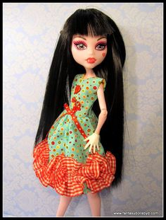 Monster High Doll Clothes Dress OOAK Outfit  by Fantasydolls, $8.99