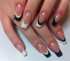 Deep white and black french